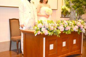 結婚式おひらき