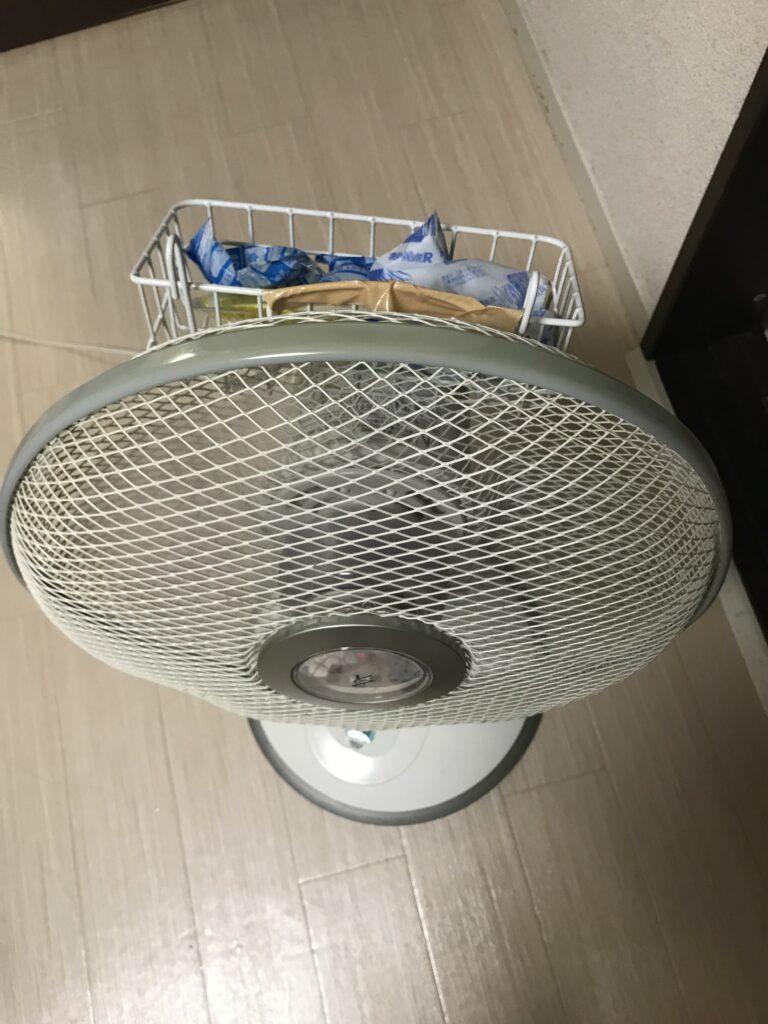 保冷剤と扇風機