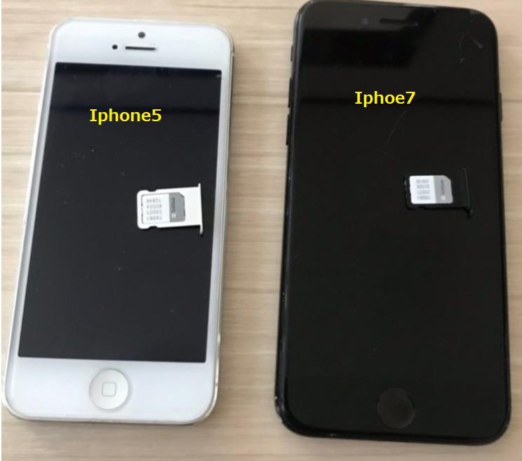 Iphone5とIphone7
