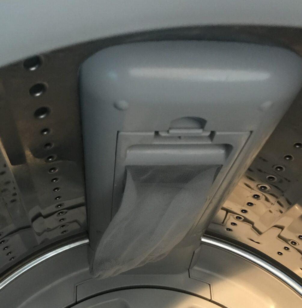 洗剤を入れる場所