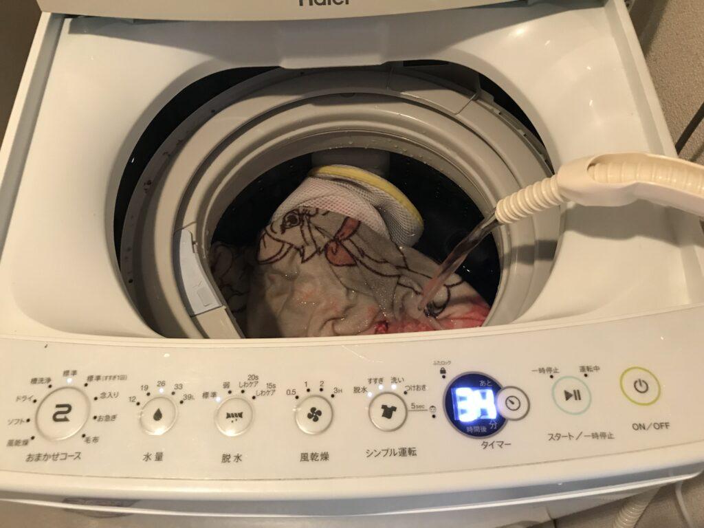 残り湯で洗濯