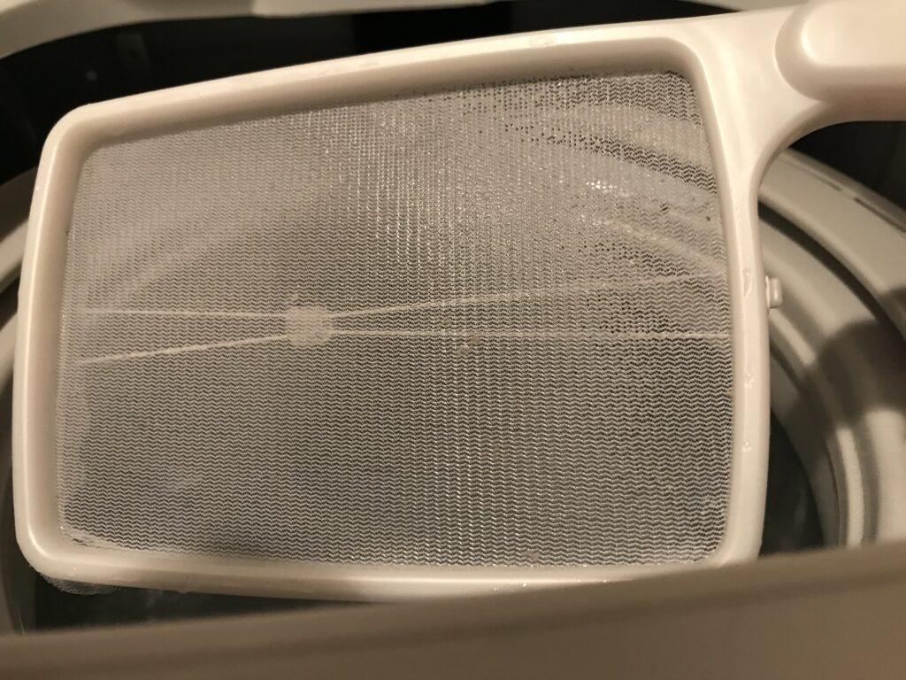 5時間つけおいた洗濯機
