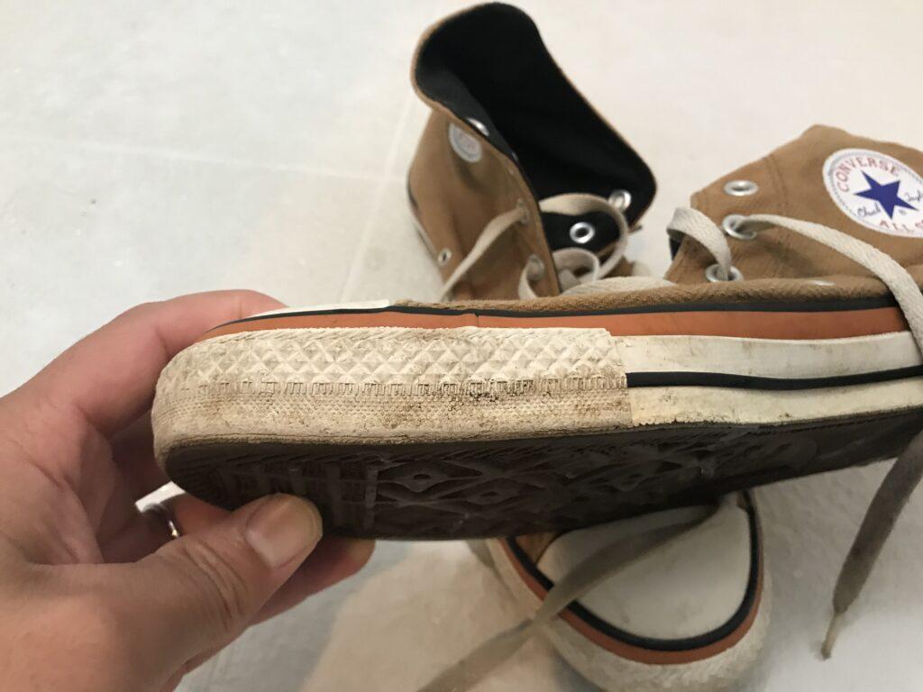 ウタマロ洗う前の靴