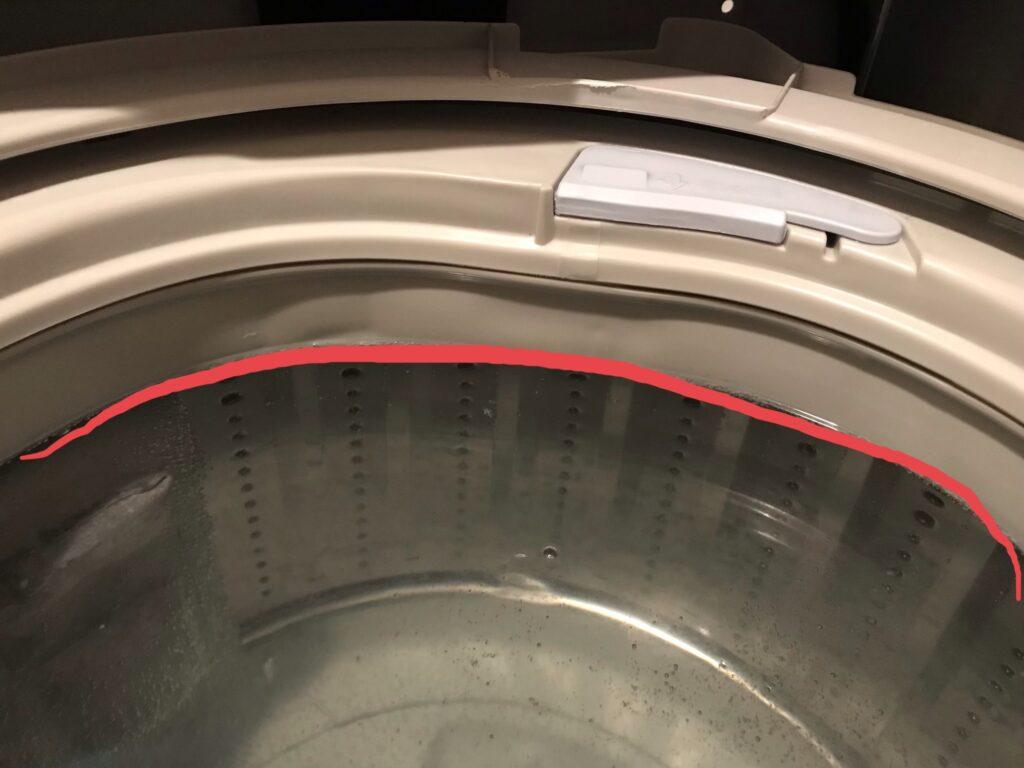 洗濯槽満水
