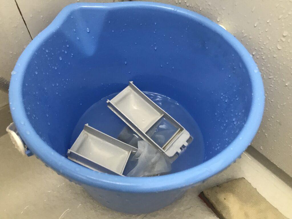 ゴミ取りネットつけおき洗い
