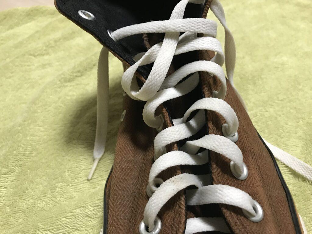 ウタマロで洗った後の靴