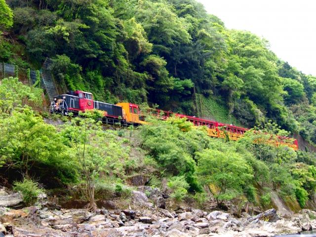 保津川ラフティングトロッコ列車