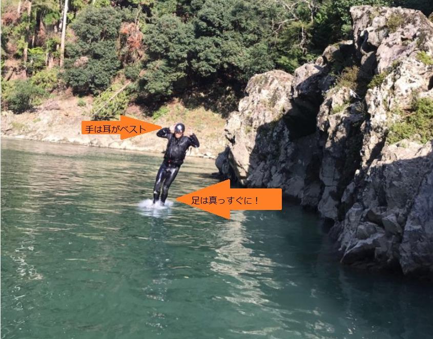 飛び込みの着水時